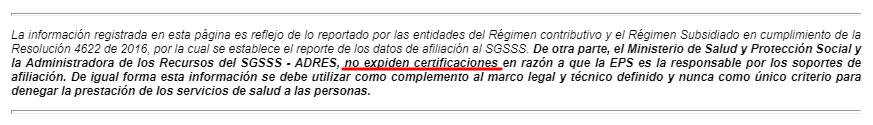 adres certificado